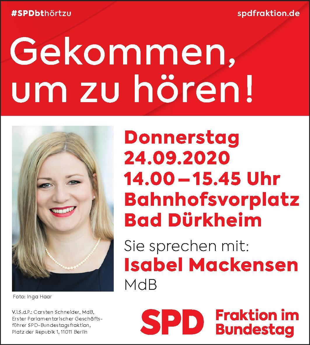 Isabel Mackensen - Gekommen um zu hören! 24.09.2020 Bahnhofsvorplatz Bad Dürkheim