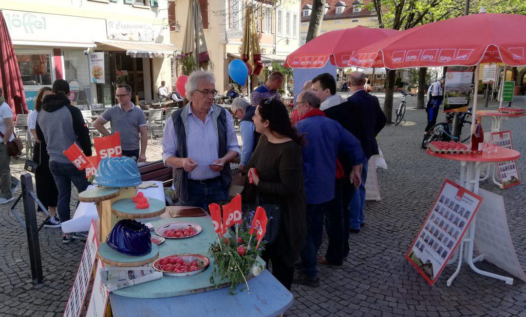 Oster-Info-Stand SPD Bad Dürkheim:
