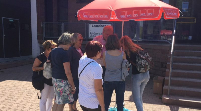 Salinarium Warmaussenbecken 2018 Unterschriftenaktion SPD Bad Dürkheim