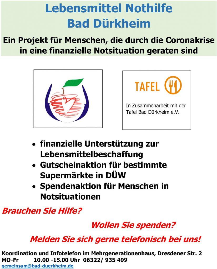 Notfallhilfe Lebensmittel Bad Dürkheim