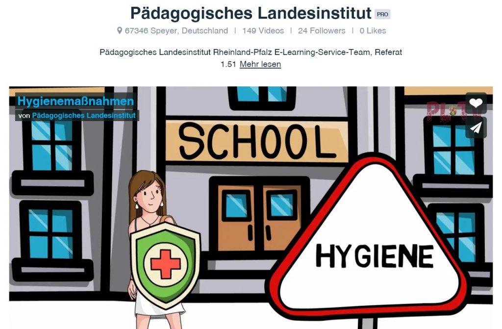 Pädagogisches Landesinstitut Hygiene Erklärvideo