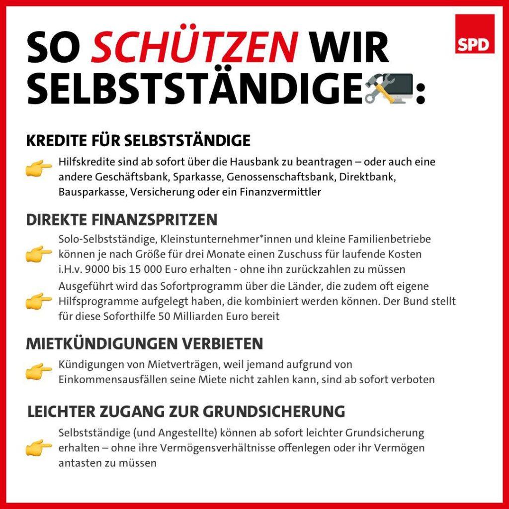 SPD So schützen wir Selbstständige
